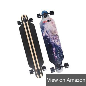 MAGIC UNION 41 Inch Maple Drop-Down Longboard Complete Skateboard Review