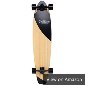 Sanview Bamboo Drop Through Longboard Skateboard Cruiser Amazon